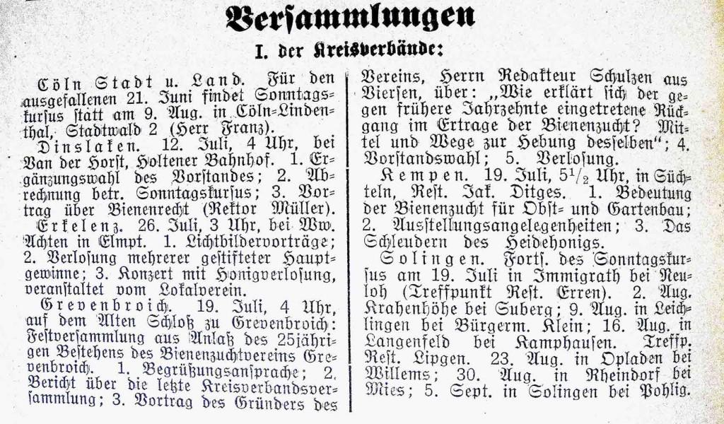Rheinische Bienen Zeitung